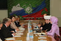 The  representative delegation from Belorussia led by Vasily Kazakevich, the deputy minister of agriculture of Belorussia visited the Council of muftis of Russia